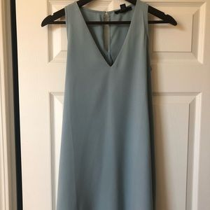 Stone blue shift dress